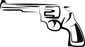 Gun. Simple illustration with a gun Stock Image
