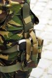 Gun. Romanian soldier carring a gun Royalty Free Stock Photography