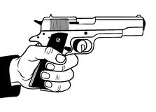 Gun. In hand, vector illustration Royalty Free Stock Photography