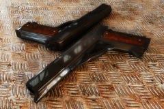 Gun. Modern semiautomatic hand gun, Glock pistol firearm Royalty Free Stock Photo