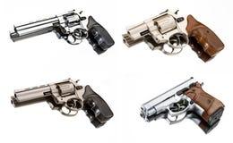 Gun. Four guns on white background royalty free stock photos