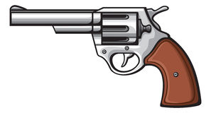 Gun. Pistol vector, pistol gun, old revolver Royalty Free Stock Images