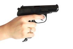 Gun. The gun in hand. ISolated Stock Photography