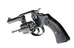 Gun. Isolated revolver royalty free stock image