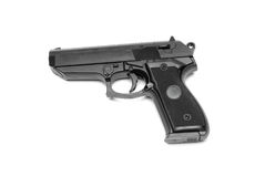 Gun. Hand made clipping path included Royalty Free Stock Images