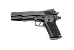 Gun. Hand made clipping path included Royalty Free Stock Photos