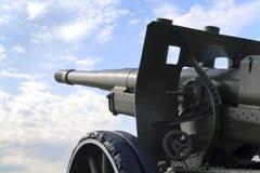 The gun. Soviet field gun of the World War II royalty free stock photography
