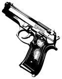 Gun. Black gun on a white background vector illustration