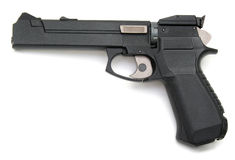 Gun. Isolated on white background Stock Image