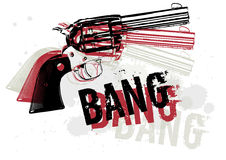 Gun Abstract. Vector illustration of a group of Gun and text in an abstract composition Royalty Free Stock Photo