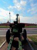 Gun aimed at the fortress stock image