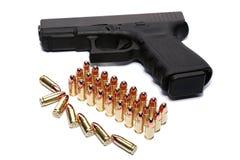 Gun and ammunition Royalty Free Stock Photography