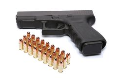 Gun and ammunition Royalty Free Stock Photos