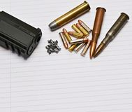 Gun and ammunition Royalty Free Stock Photo