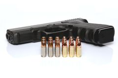 Gun and ammunition Royalty Free Stock Image