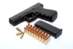 Gun and ammunition Stock Image