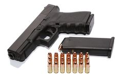 Gun and ammunition Stock Photography