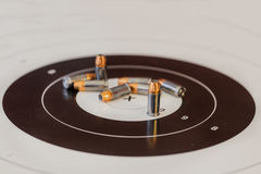 Gun Ammunition And Target Royalty Free Stock Image
