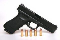 Gun And Bullets Royalty Free Stock Photos