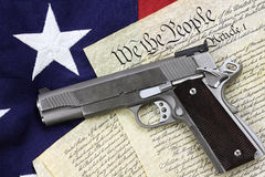 Gun And Constitution Stock Photography