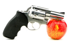 Gun Apple Royalty Free Stock Photos