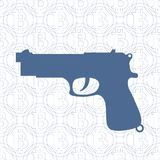 Gun on the background of bitcoin. Picture about transactions in bitcoin: gun on the background of bitcoin stock illustration