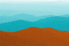 Gum ball Mountains. Mosaic-like image about mountains shaped with gum-balls, candy....all computer generated vector illustration