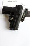 Gun ball and target Stock Image