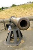 Gun Barrel. Staring down the barrel of an antique WWII cannon at Fort Flagler in Washington State Stock Photography