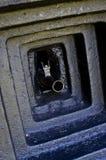 Gun barrel in the bunker Stock Photo