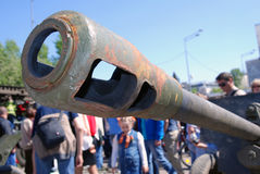 A gun barrel. Stock Photo