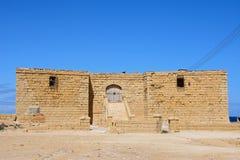 Gun battery at Marsalforn, Gozo. View of the entrance to the Il-Qolla I-Badja battery, Redoubt, Marsalforn, Gozo, Malta, Europe Stock Image
