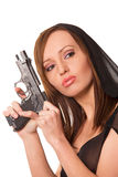 Gun and beauty Stock Image