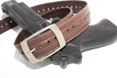 And gun belts Stock Images