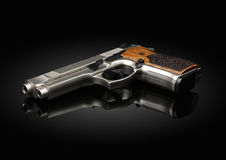 Gun on black background Royalty Free Stock Photo