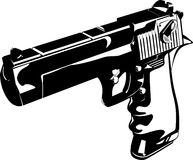 Gun black and white royalty free illustration