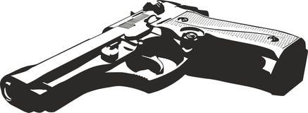Gun. Black gun on a white background Royalty Free Stock Photo