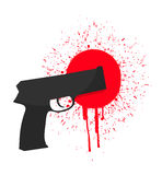 Gun and blood Stock Images