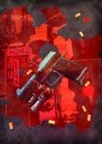 Gun and blood Stock Photo