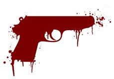 Gun with blood Stock Photos
