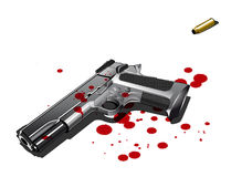 Gun with blood stains Royalty Free Stock Images