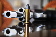 Gun with bullet. Royalty Free Stock Photography