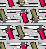 Gun and bullet pattern. Background Stock Image