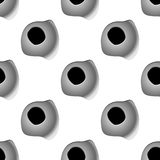 Gun bullet shot holes seamless pattern. In square format. For news, chronicles and antiwar design Stock Images