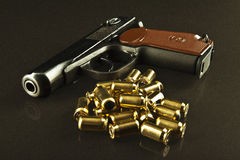 Gun and bullets Royalty Free Stock Image