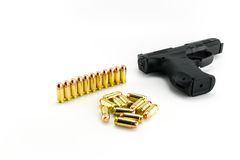 Gun with Bullets Stock Photography