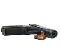 A gun and a bullets Royalty Free Stock Image