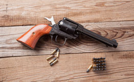 Gun with Bullets Stock Images