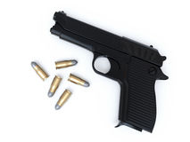 Gun and Bullets Stock Image