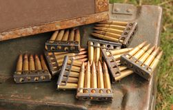 Gun Bullets. Royalty Free Stock Photography